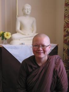 Ayya Seri Bhikkhuni at Patacara Bhikkhuni Hermitage January 2011