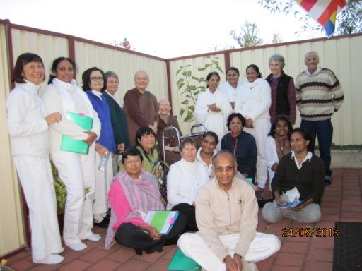 Ayya Vayama Bhikkhuni, Ayya Seri Bhikkhuni and the participants on Vesak day, 24th of May 2013 at Patacara Bhikkhuni Hermitage.