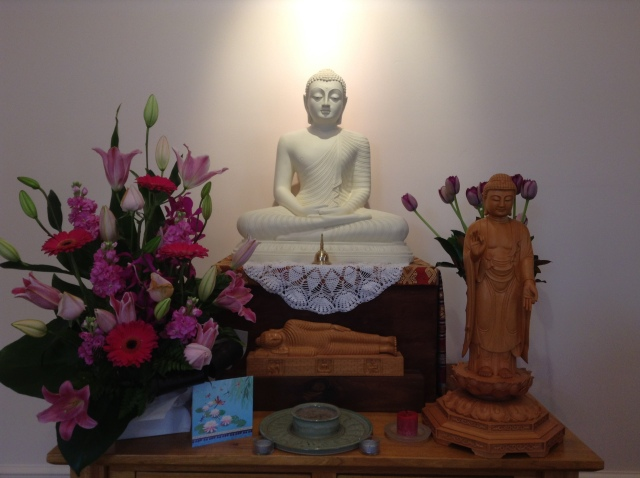 The beautiful shrine in the sala of Patacara Bhikkhuni Hermitage on 5th of July 2014.