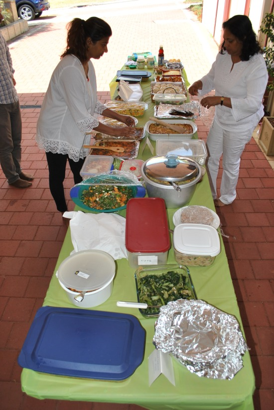 The dana table at Patacara Bhikkhuni Hermitage on 31st October 2015. Photo by Havindra.
